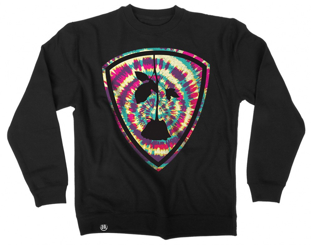 Subrosa Dye Shield Crewneck Sweatshirt Black