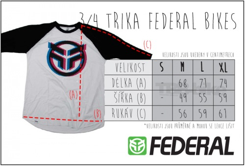 Triko Federal 3/4 BRUNO 2 Black/White