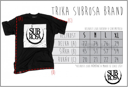 Triko Subrosa STICKER BOMB Black