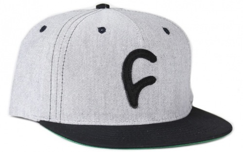 Cult FELT C Snapback Hat Grey