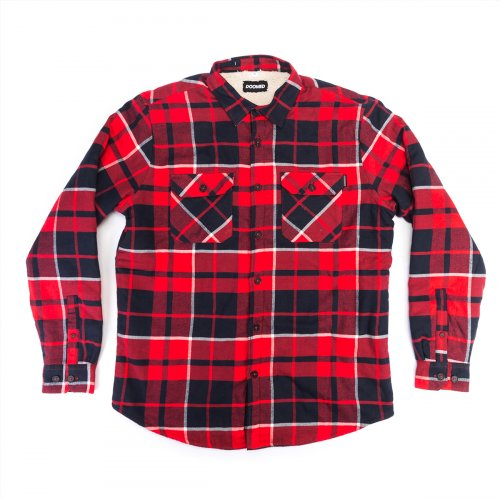 Košile Doomed PAID LAD Flannel Red/Black
