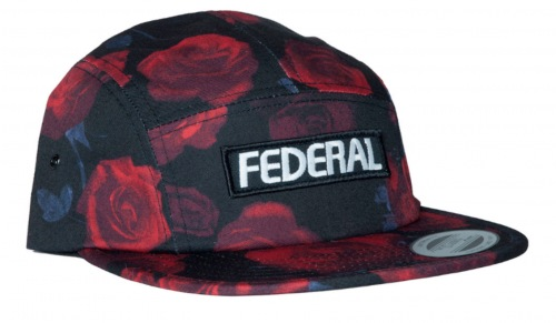 Kšiltovka Federal LOGO 5 Panel Black/Rose