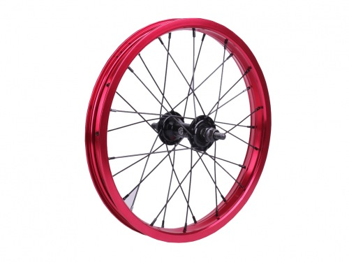 "Salt AM 16"" Front Wheel Black/Red"