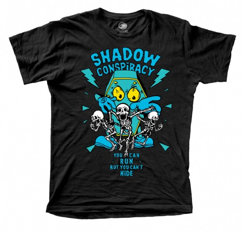 Shadow CAN´T HIDE T-Shirts Black