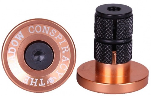 Shadow Deadbolt Bar Ends Copper