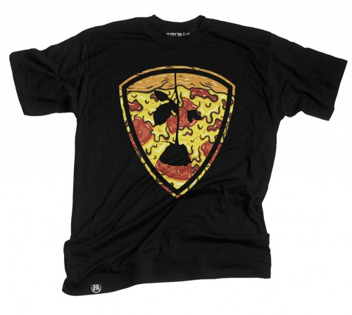 Subrosa PIZZA SHIELD T-Shirt Black
