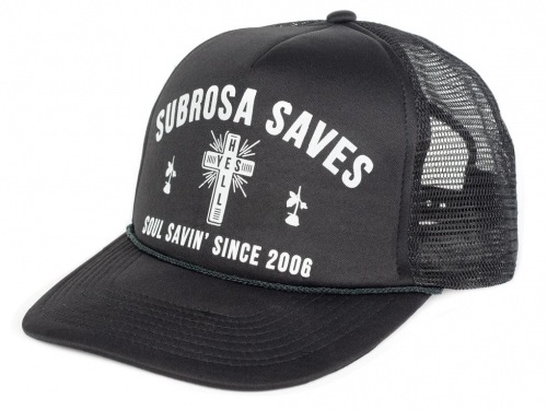Subrosa SOUL SAVER Trucker Hat Black