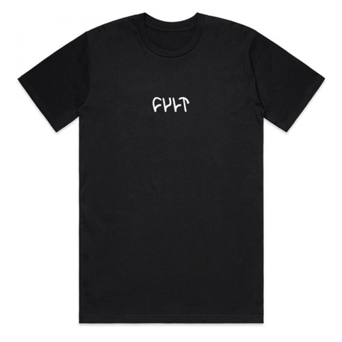 Triko Cult EMBROIDERED LOGO Black