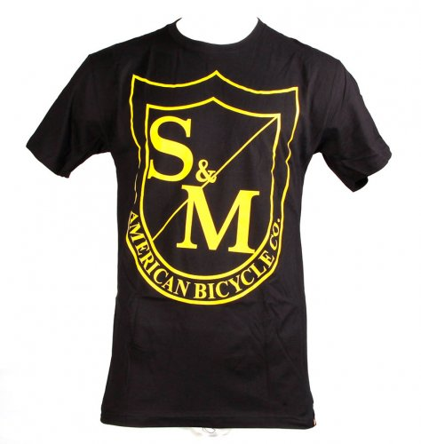 Triko S&M BIG SHIELD Black/Yellow