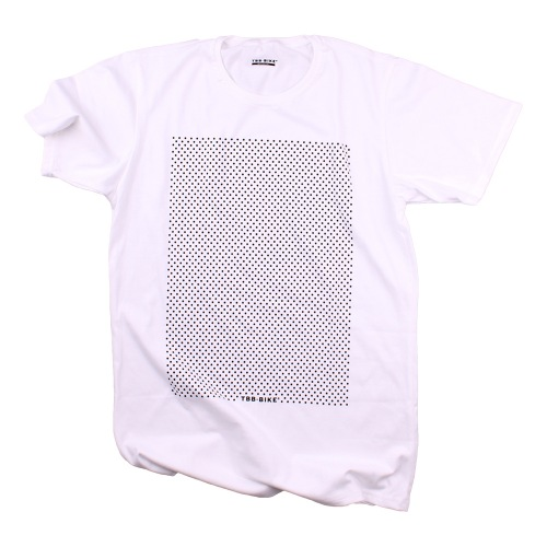 Triko TBB-BIKE DOTS White