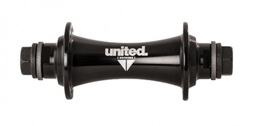 United SUPREME Front Hub Black