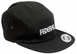 Kšiltovka Federal LOGO 5 Panel Black