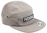 Kšiltovka Federal LOGO 5 Panel Grey