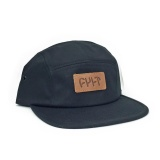 Kšiltovka Cult 5 Panel CAMPER Black/Leather