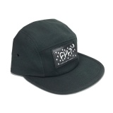Kšiltovka Cult 5 Panel DREAM CAMPER Black/Leather