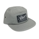 Kšiltovka Cult 5 Panel DREAM CAMPER Grey/Leather