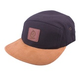 Kšiltovka Thebikebros BADGE 5 Panel Black