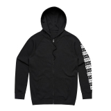 Mikina Cult PATTERN ZIP-UP Black