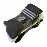 Ponožky Thebikebros STRIPE HEAD Black/Grey/White