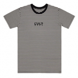 Triko Cult STRIPE LOGO Black/White